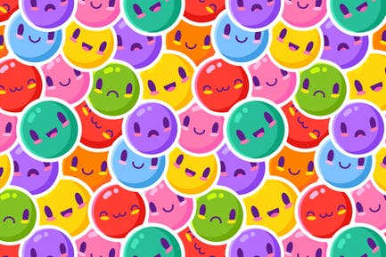 Colorful Emoticon Pattern