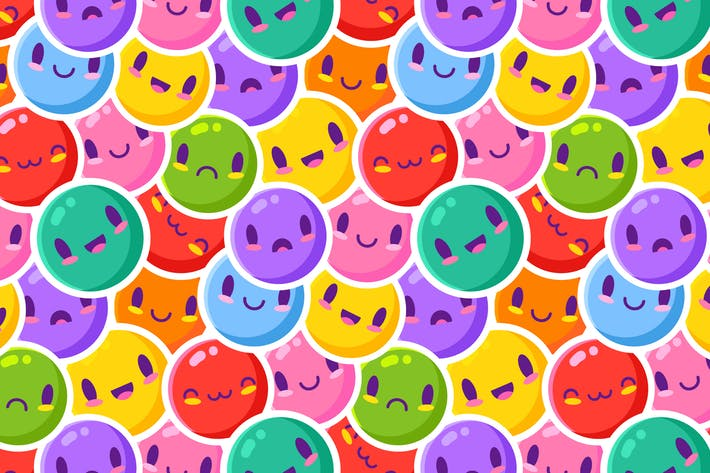 Buntes Emoticon-Muster
