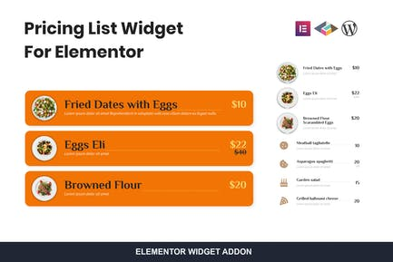 Pricing List Widget For Elementor