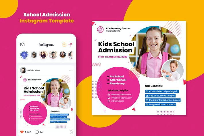 Thumbnail for School Admission Instagram Template
