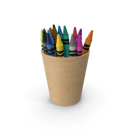 Lápices de colores en taza