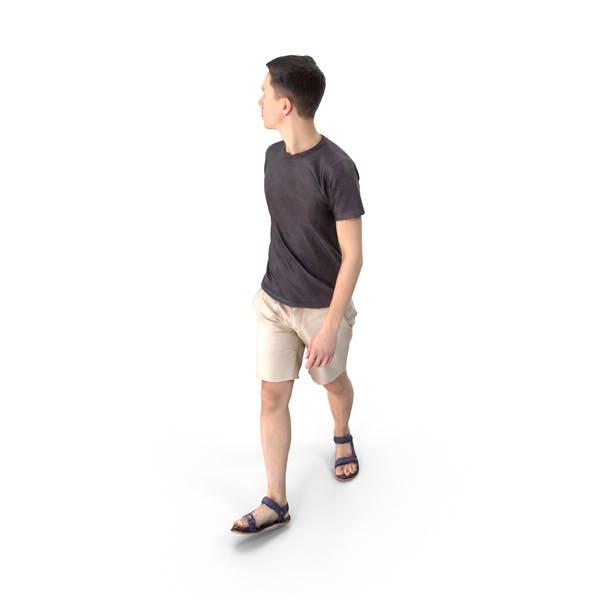 Casual Man Walking