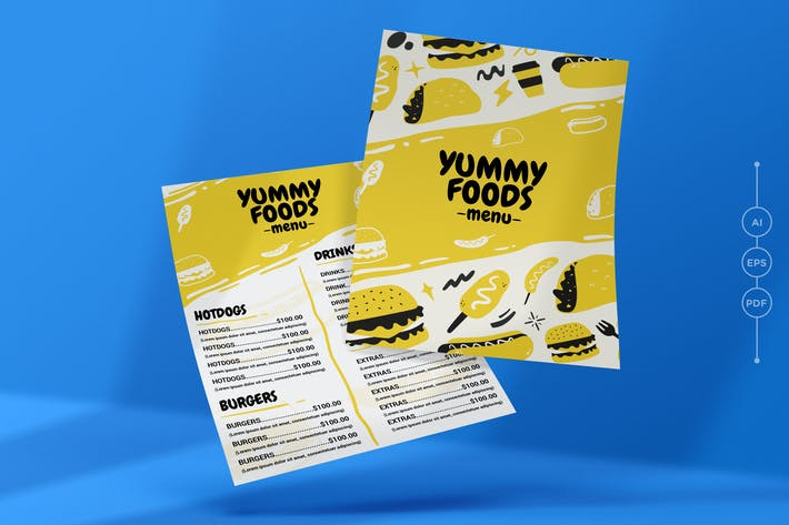 Thumbnail for Yummy Restaurant Menu Template