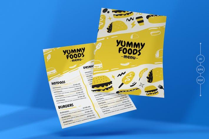 Thumbnail for Yummy Restaurant MenüVorlage