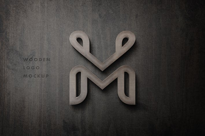 Thumbnail for 3D Wooden Sign Logo Mockup