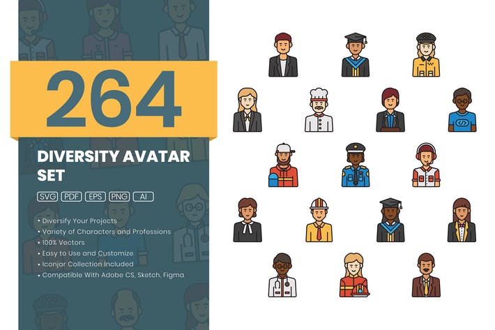 Thumbnail for 264 Diversity Avatar Set