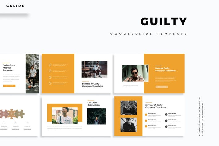 Cover Image For Guilty - Google Slide Template