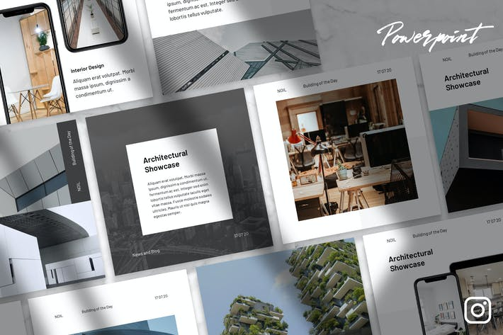 Thumbnail for Noil - Architecture Instagram Kit Powerpoint