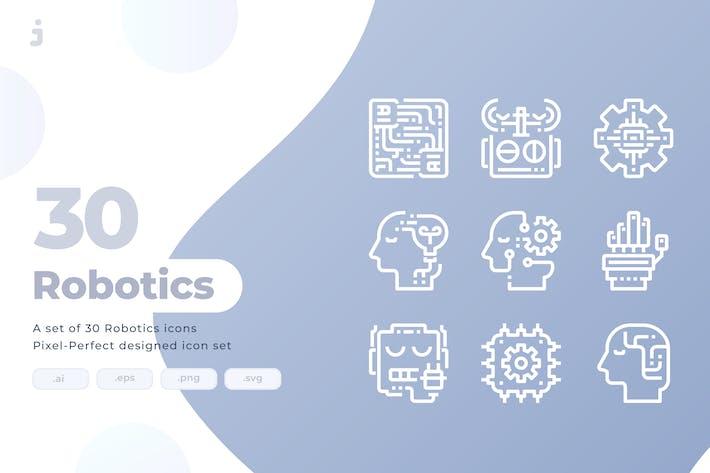 Thumbnail for 30 Robotics Icons