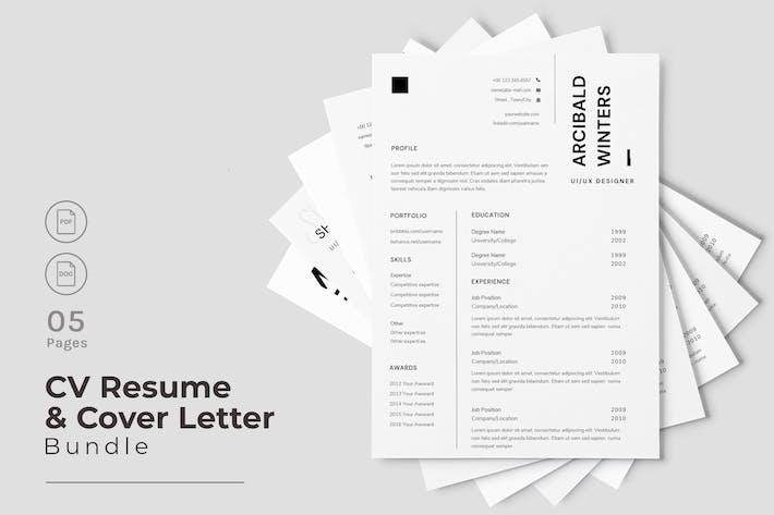 Thumbnail for Elegant CV Resume Design