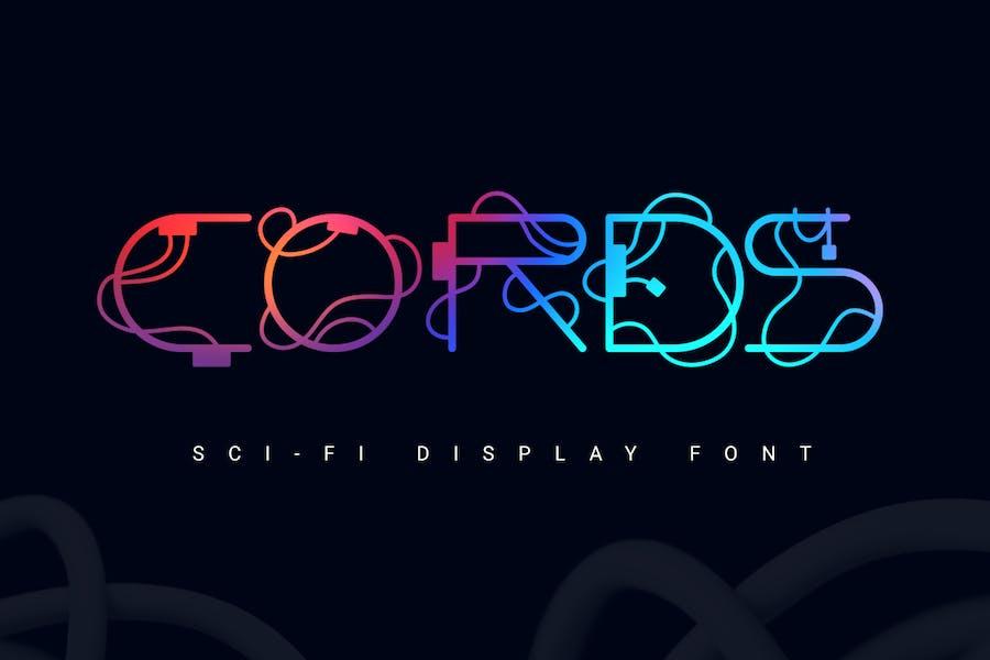 Cords   sci-fi font