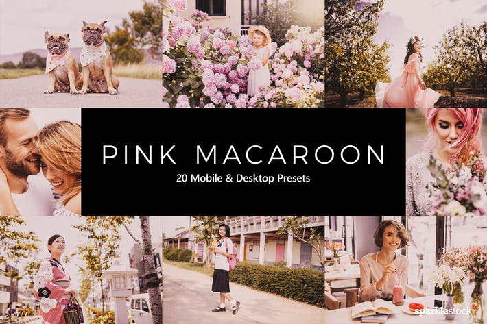 Thumbnail for 20 Pink Macaroon Lightroom Presets & LUTs