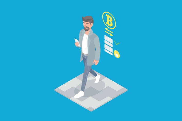 Thumbnail for Cryptocurrency Transactions Isometric - Li