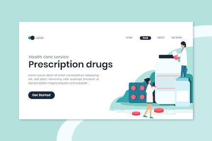 Prescription Drugs Landing Page Template