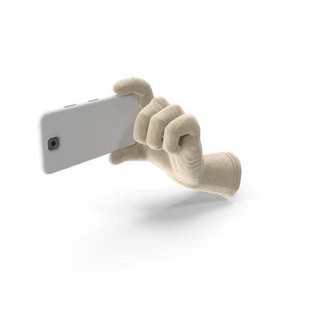 Glove Holding a Phone Landscape