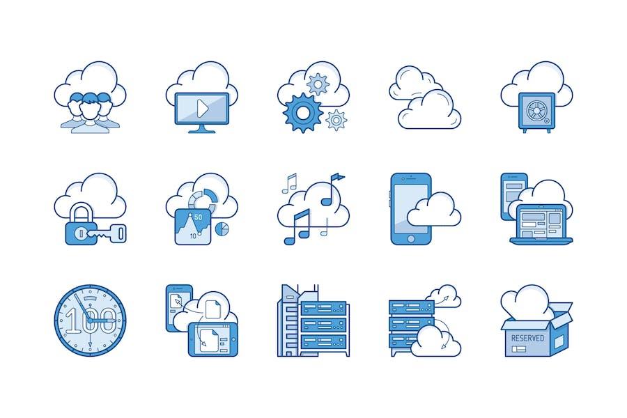 15 Cloud storage Icons