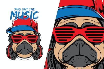 Pug Funky DJ