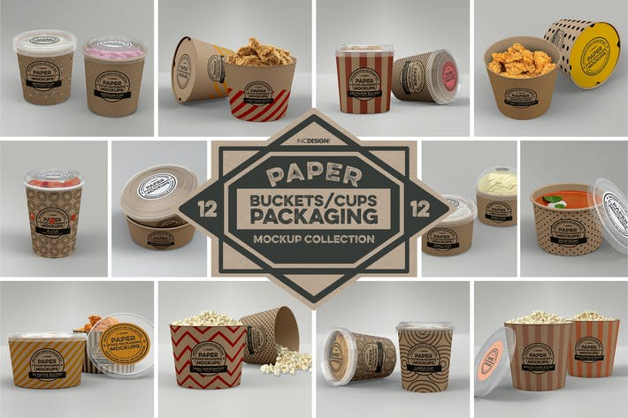 Thumbnail for Paper Food Packaging Mockups Vol.12