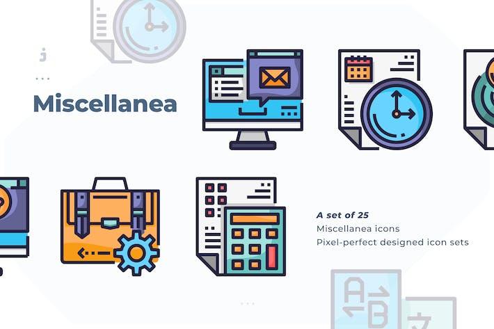 Thumbnail for 25 Miscellanea icon set