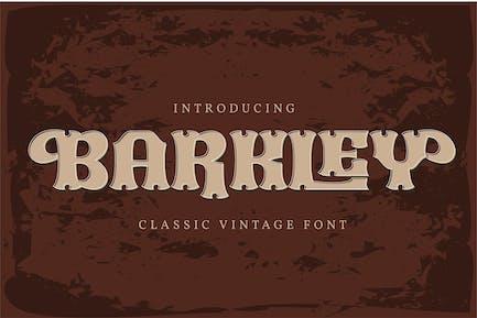 Barkley | Classic Vintage Font