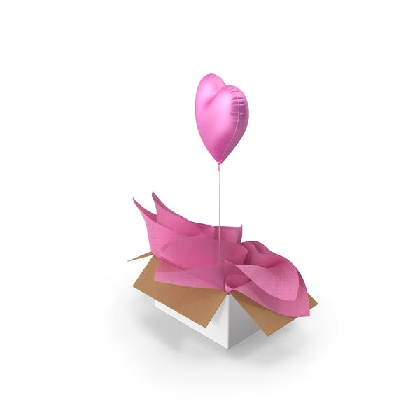 Pink Heart Balloon Surprise Box