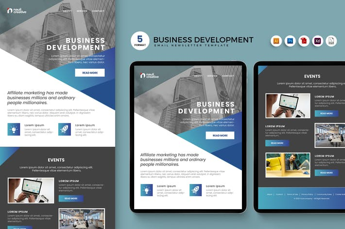 Thumbnail for Business Development Email Enewsletter Template