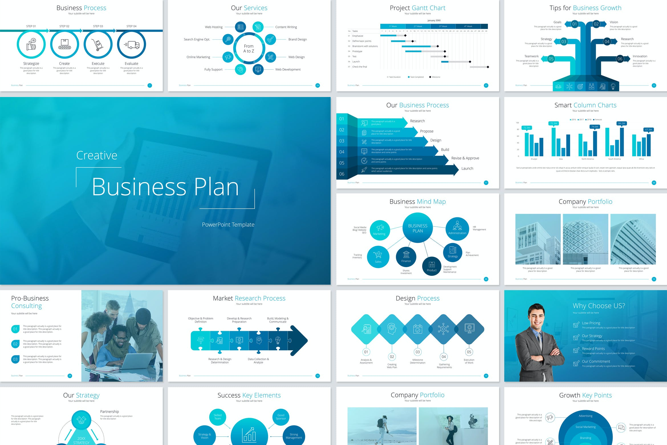 Business Plan Powerpoint Template By Jafardesigns On Envato Elements