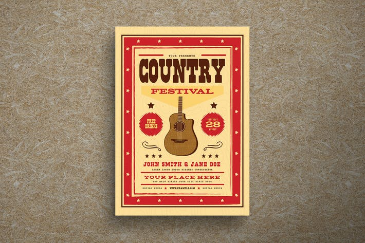 Thumbnail for Country Festival Event Flyer