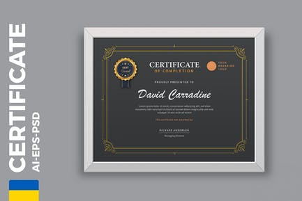 Vintage Certificate / Diploma Template