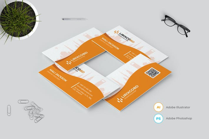Thumbnail for Minimal Business Card Template