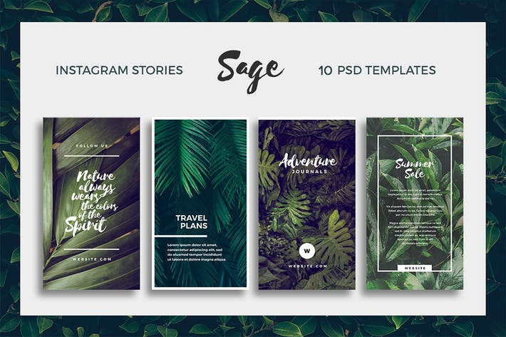 Thumbnail for Sage - Instagram Story Templates