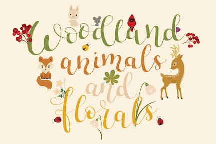 Woodland Animals and Florals