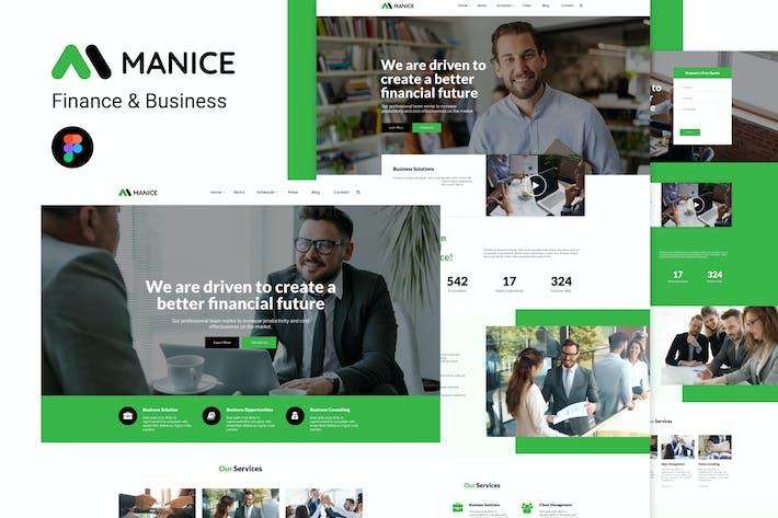 Thumbnail for Manice - Business Modèle Figma