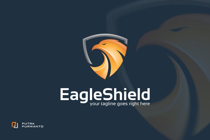 Thumbnail for Eagle Shield - Logo Template