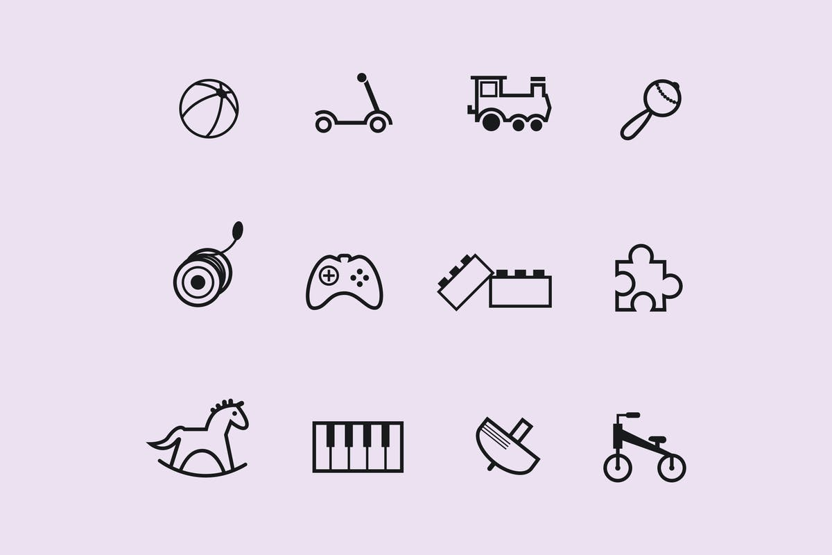 Download 12 Childrens Toy Icons by creativevip by Unknow