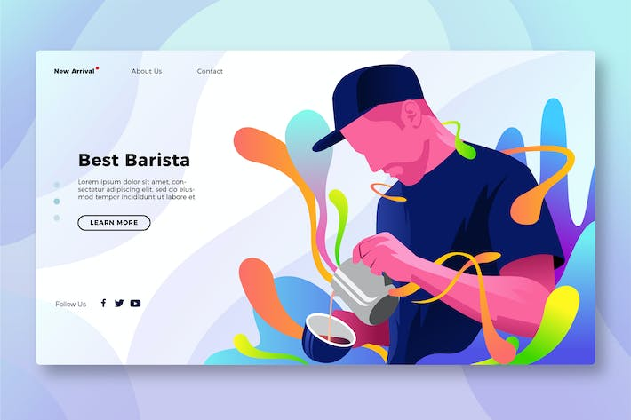 Thumbnail for Best Coffee Barista - Banner & Landing Page