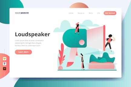 Loudspeaker - Landing Page