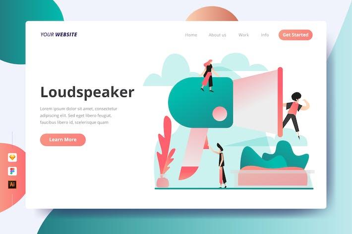 Thumbnail for Loudspeaker - Landing Page