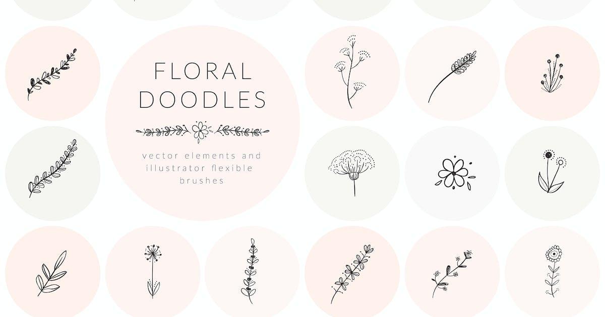 Download Hand Drawn Floral Doodles by helga_helga