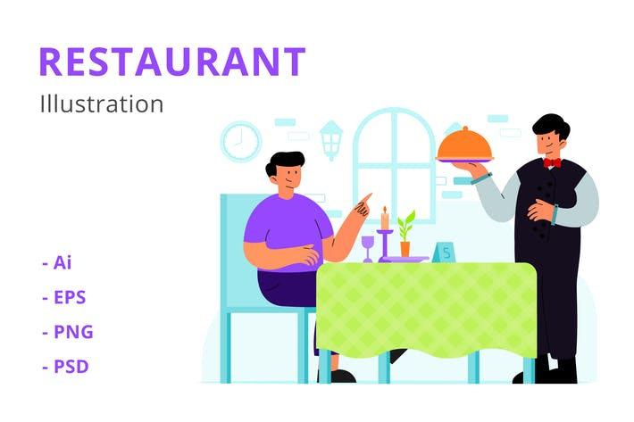 Thumbnail for Restaurant Illustration