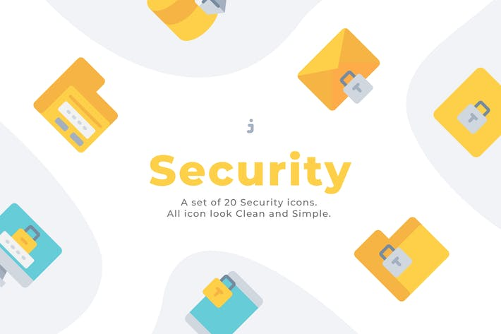 20 Security icons - Flat