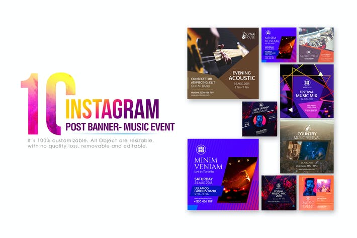 Thumbnail for 10 Instagram Post Banner-Music Event