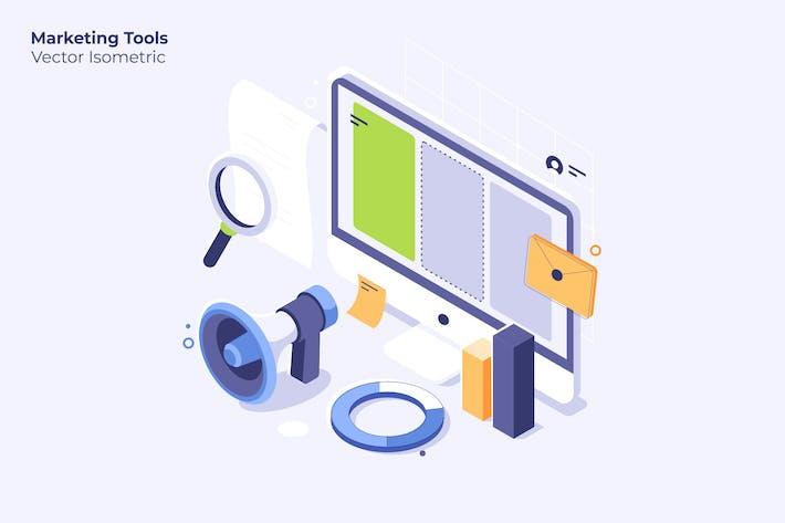 Thumbnail for Marketing Tools - Vector Illustration