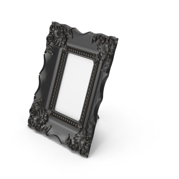 Baroque Picture Photo Frame Black Dust