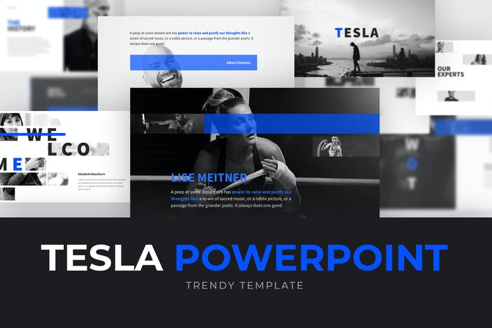 Cover Image For TESLA Powerpoint Template