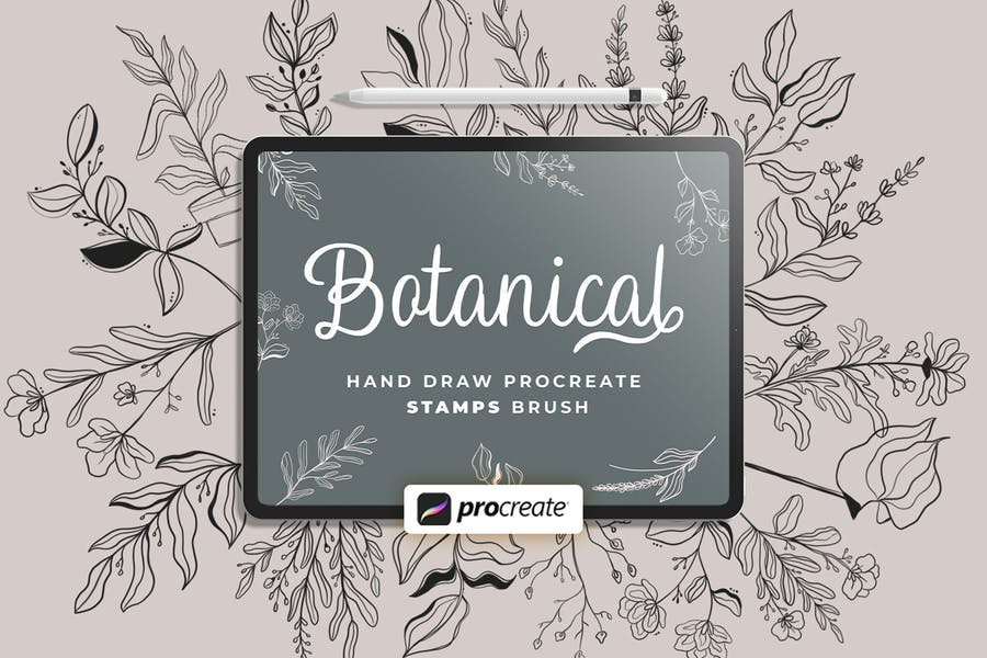 Procreate - Floral V.2 Stamps