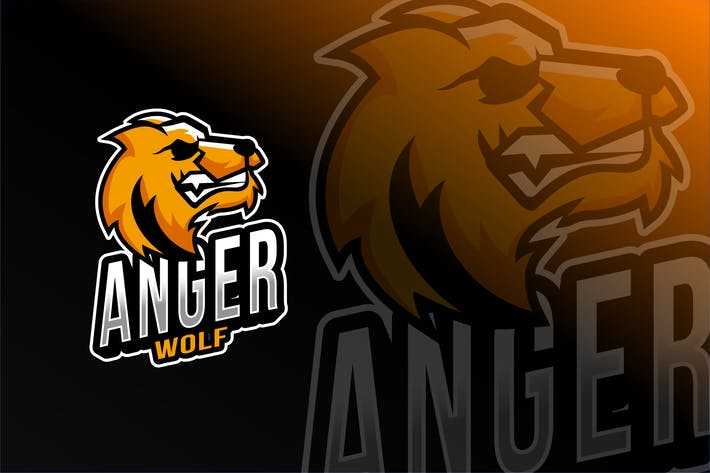 Thumbnail for Anger Wolf Esport Logo Template