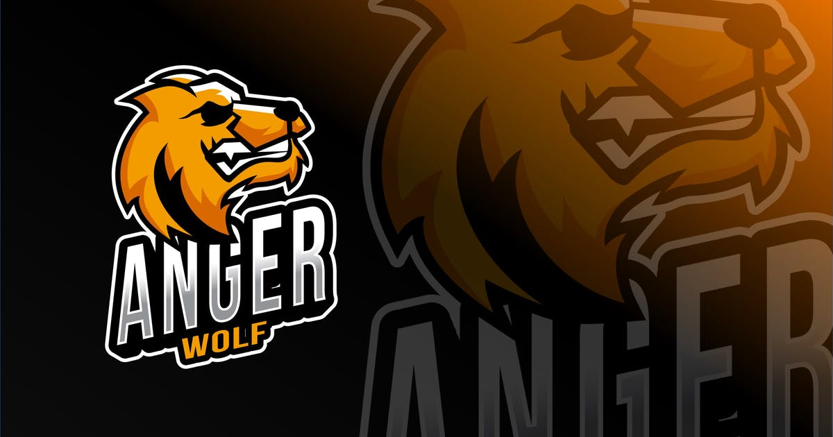 Download Anger Wolf Esport Logo Template by IanMikraz