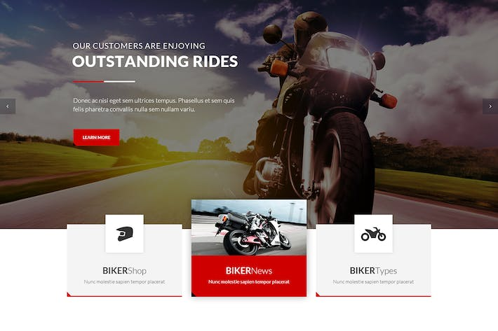 Thumbnail for BikersClub - HTML Template