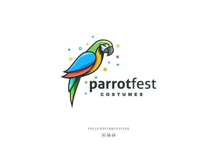 Thumbnail for Simple Modern Parrot Color Logo template